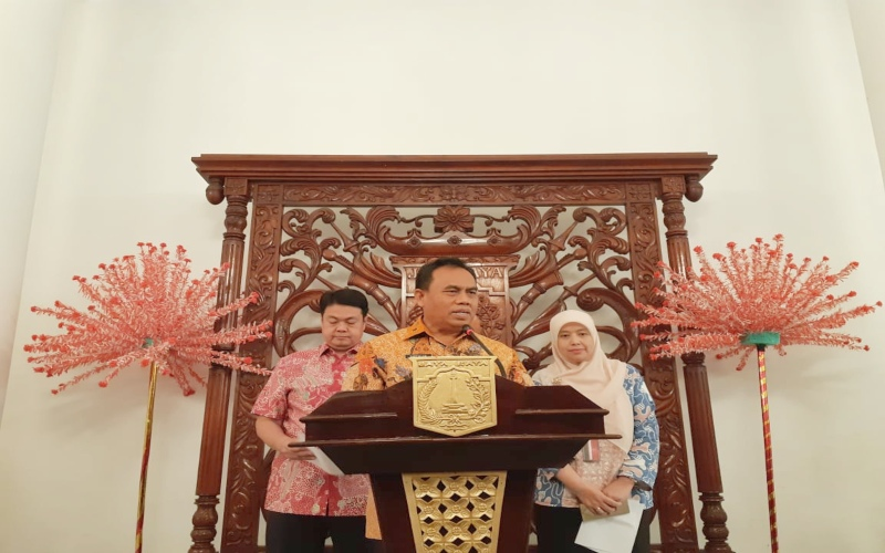 Sekda DKI Jakarta Saefullah di Balai Kota DKI -  Bisnis / Feni Freycinetia