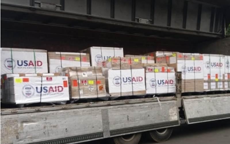 AS mengirimkan bantuan ventilator untuk Indonesia. - Antara/Kedubes AS Jakarta