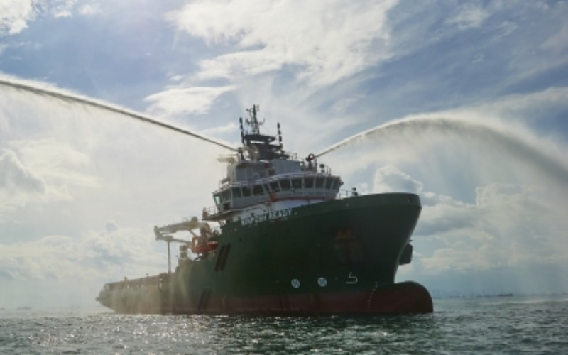 Kapal Winposh Ready, salah satu armada tipe Anchor Handling Tug Supply milik PT Wintermar Offshore Marine Tbk. - wintermar.com