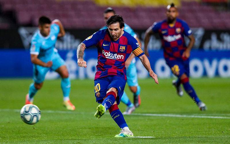 Kapten tim FC Barcelona Lionel Messi. - Twitter@FCBarcelona