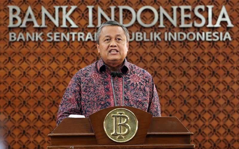 Gubernur Bank Indonesia (BI), Perry Warjiyo memberikan keterangan pers melalui streaming di Jakarta, Selasa (24/3 - 2020). Dok. Bank Indonesia