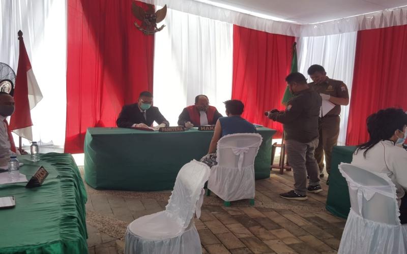 Sidang di tempat bagi pelanggar protokol Covid/19 di Kota Palembang