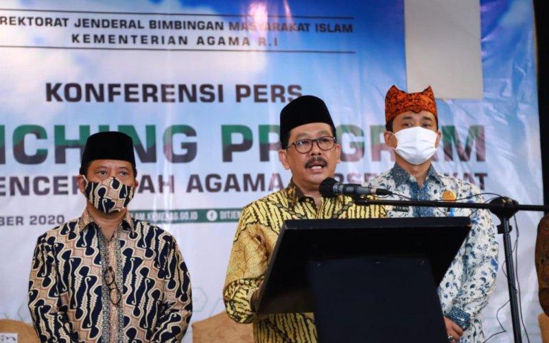 Wakil Menteri Agama Zainut Tauhid Sa'adi memberikan sambutan dalam peluncuranProgram Penguatan Kompetensi Penceramah Agama, di Jakarta, Jumat (18/9/2020) - DOk./Kementerian Agama