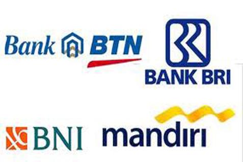 Ilustrasi logo bank BUMN.
