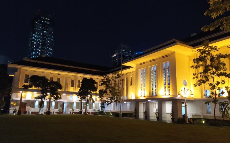 Pemandangan Gedung Haritage, Kementerian ESDM. Bisnis.com - David E. Issetiabudi
