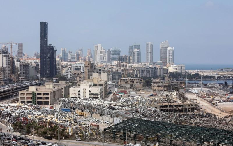 Kondisi kota Beirut, Lebanon, setelah ledakan gudang penyimpanan amonium nitrat sebesar 2.750 ton - Bloomberg
