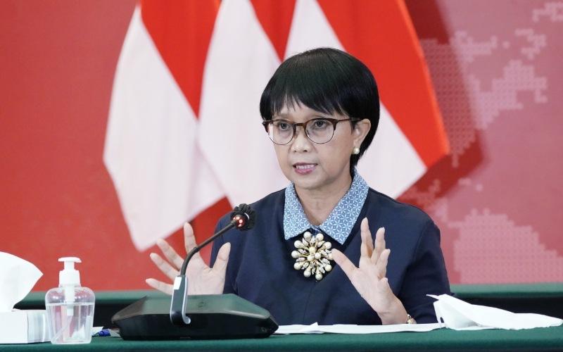 Menteri Luar Negeri Retno Marsudi memberikan keterangan saat press briefing secara virtual, Kamis (17/9/2020) - Istimewa