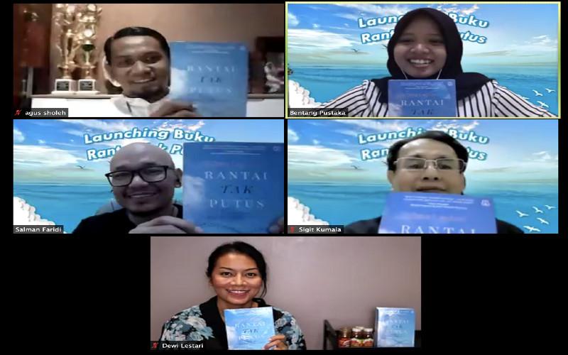 Peluncuran Buku Rantai Tak Putus, Selasa (22/9/2020) malam.  - YDBA