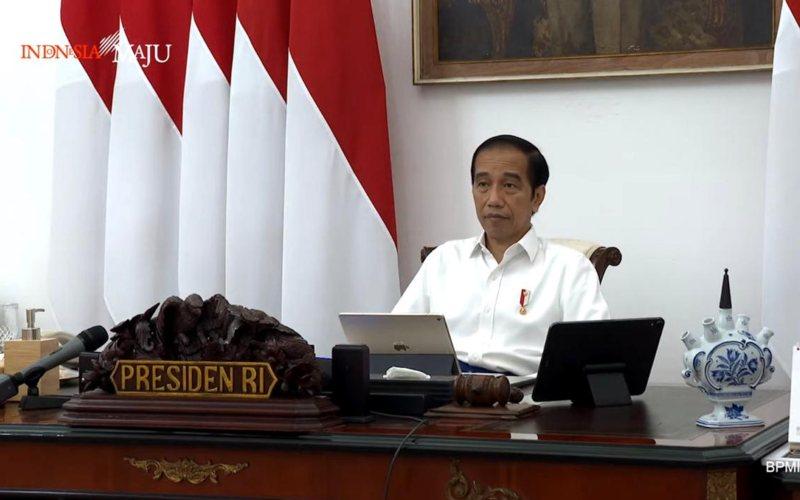Presiden Joko Widodo dalam rapat terbatas mengenai lanjutan pembahasan food estate, Rabu (23/9 - 2020) / Youtube Setpres