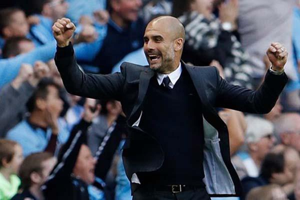Pelatih Manchester City Pep Guardiola - Reuters