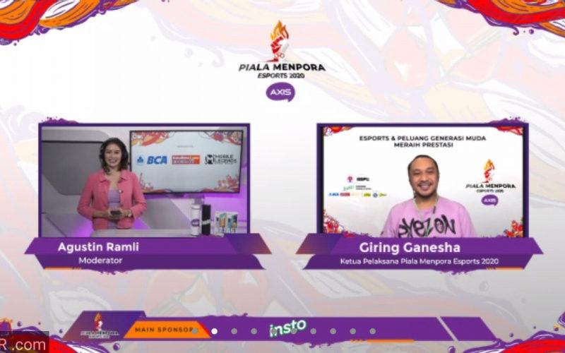 Ketua Penyelenggara Piala Menpora Esports 2020 Axis,Giring Ganesha - Istimewa