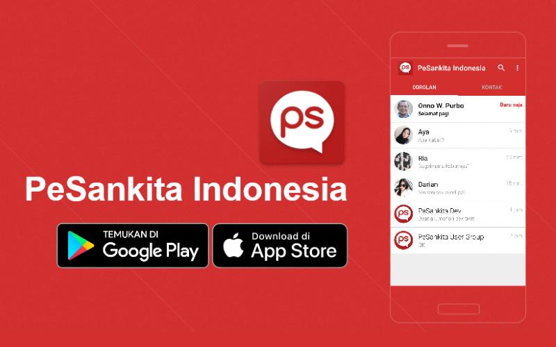 Aplikasi PeSankita. Aplikasi Palapa merupakan generasi baru dari aplikasi PeSankita Indonesia (PS) yang telah digunakan secara luas di kalangan yang paham dan peduli dengan keamanan dan privasi termasuk dalam Gerakan Ayo Nyoblos Ayo Pantau.  - pesan.kita.id