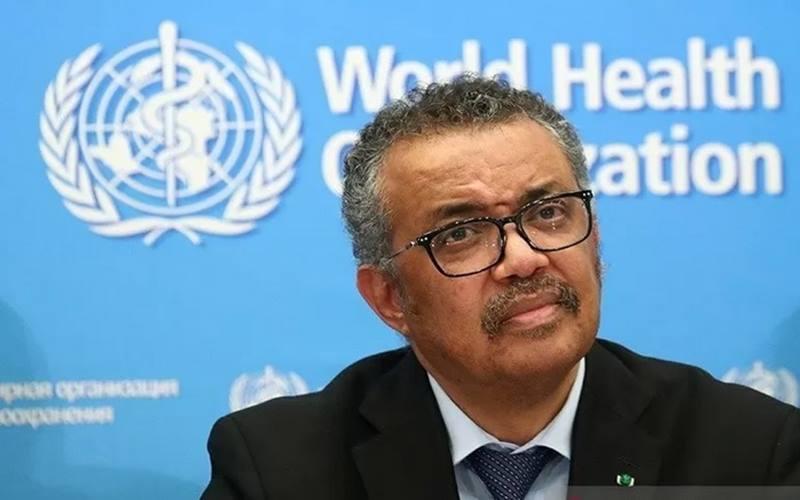 Direktur Jenderal WHO Tedros Adhanom Ghebreyesus memberi info perkembangan situasi wabah Covi-19 di Jenewa, Swiss (24/2/2020).  - Antara/Reuters