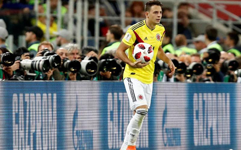 Santiago Arias ketika bermain untuk Timnas Kolombia. - Reuters