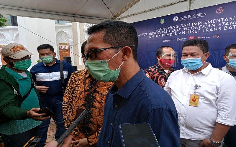 Ketua Harian Tim Gugus Tugas Percepatan Penanganan Covid-19 Kota Batam, Amsakar Achmad. - Bisnis/Bobi Bani.