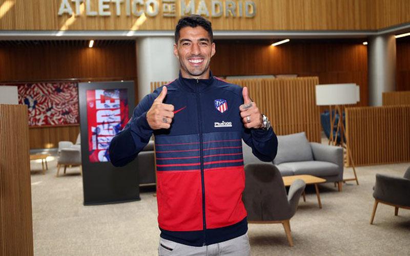 Luis Suarez resmi bergabung dengan Atletico Madrid. - Twitter@Atleti