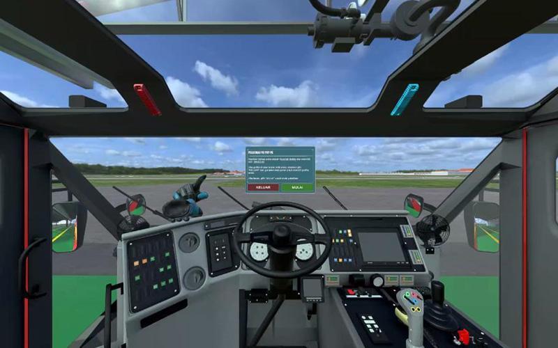 Program pelatihan virtual reality yang dilakukan Angkasa Pura II.  - Dok. Istimewa