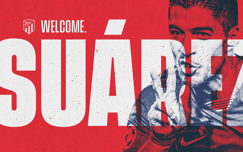 Luis Suarez membela Atletico Madrid. - en.atleticodemadrid.com
