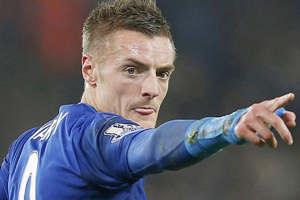 Ujung tombak Leicester City Jamie Vardy - Reuters