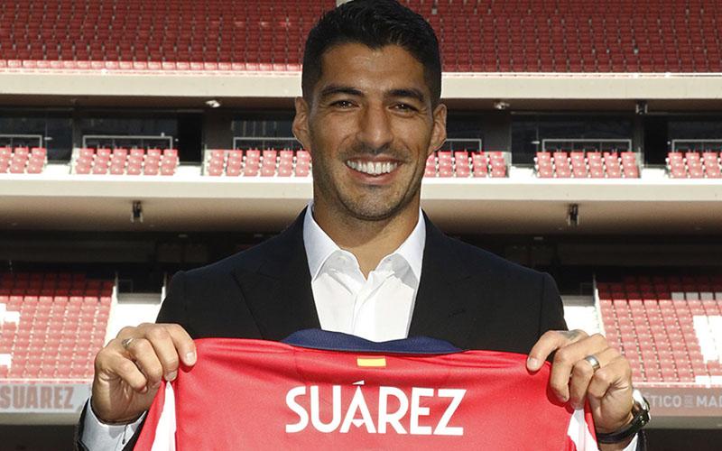 Striker baru Atletico Madrid Luis Suarez. - Twitter@Atleti