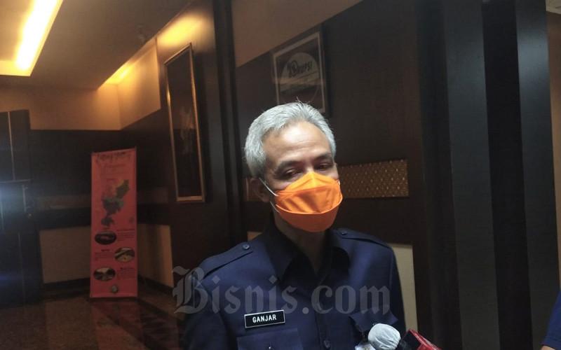 Gubernur Jateng Ganjar Pranowo saat memberikan keterangan kepada wartawan, Kamis 17 September 2020. - Bisnis/Alif Nazzala Rizqi
