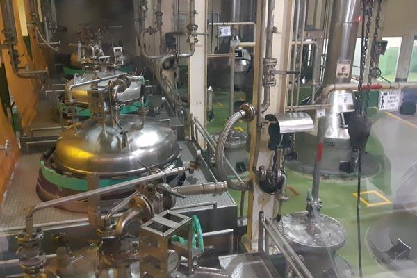 Suasana pabrik Ajinomoto Mojokerto saat dikunjungi media, Kamis (29/11/2018). - Bisnis/Peni Widarti