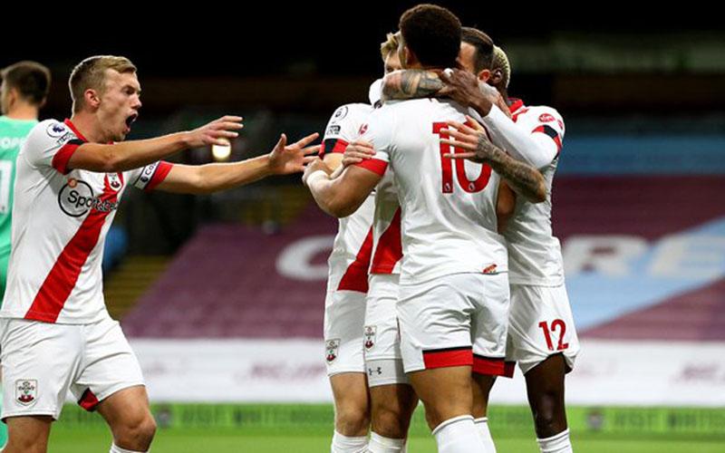 Para pemain Southampton merayakan gol ke gawang Burnley. - Twitter@SouthamptonFC