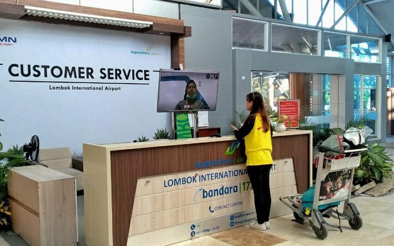 Salah satu bentuk layanan pelanggan (customer service) virtual di Bandara Lombok yang dikelola PT Angkasa Pura I. - Dok. Istimewa