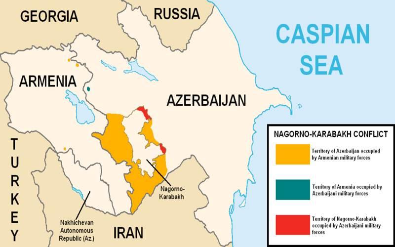 Ilustrasi-Peta konflik Nagorno-Karabakh - Wikipedia