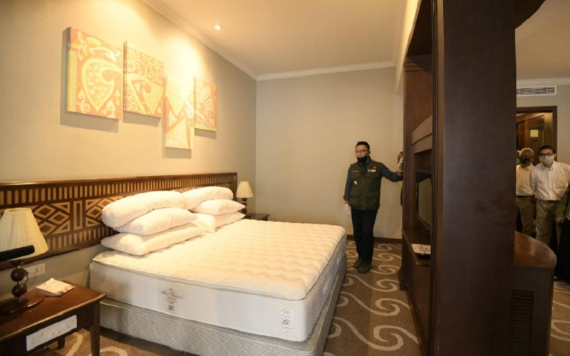 Grand Preanger Hotel, Kota Bandung, sempat dijadikan tempat menginap bagi para tenaga kesehatan yang menangani pasien Covid-19 - Bisnis/Wisnu Wage