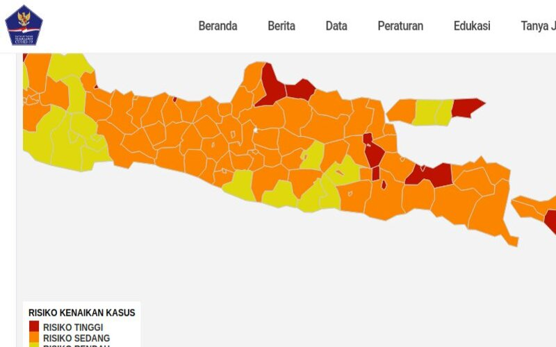 Ganjar Klaim Jateng Tanpa Zona Merah Covid 19 Data Nasional Bilang Sebaliknya