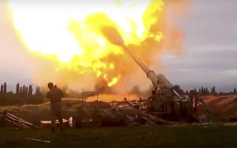 Bara api terlihat mewarnai perang antara Armenia-Azerbaijan - Bloomberg/Anadolu Agency/Kementerian Pertahanan Azerbaijan