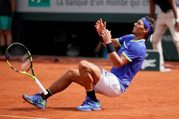 Petenis Spanyol Rafael Nadal, juara bertahan Roland Garros. - Reuters