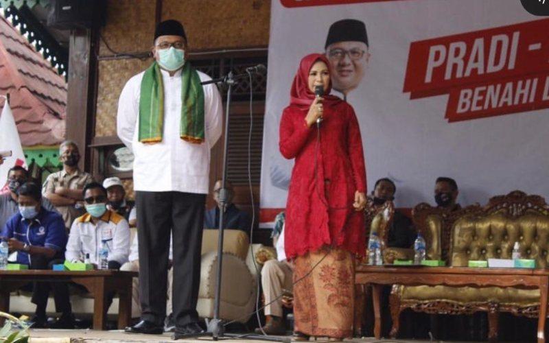 Calon wali kota Depok Pradi Supriatna dan calon wakil wali kota Depok Afifah Alia / Istimewa