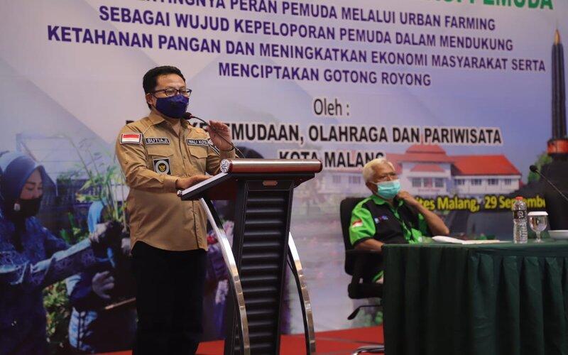 Wali Kota Malang Sutiaji pada pelatihan urban farming bagi pemuda di Malang, Selasa (29/9/2020). - Istimewa