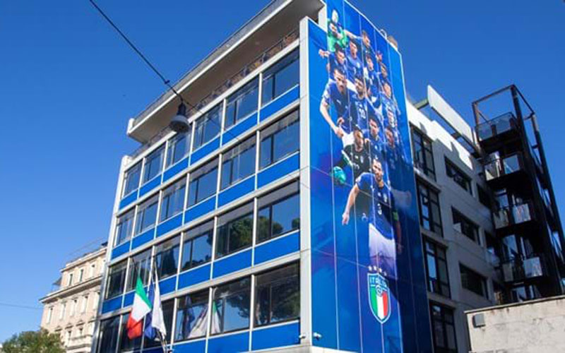 Markas federasi sepak bola Italia, Federazione Italiana Giuoco Calcio (FIGC), di Roma. - FIGC.it