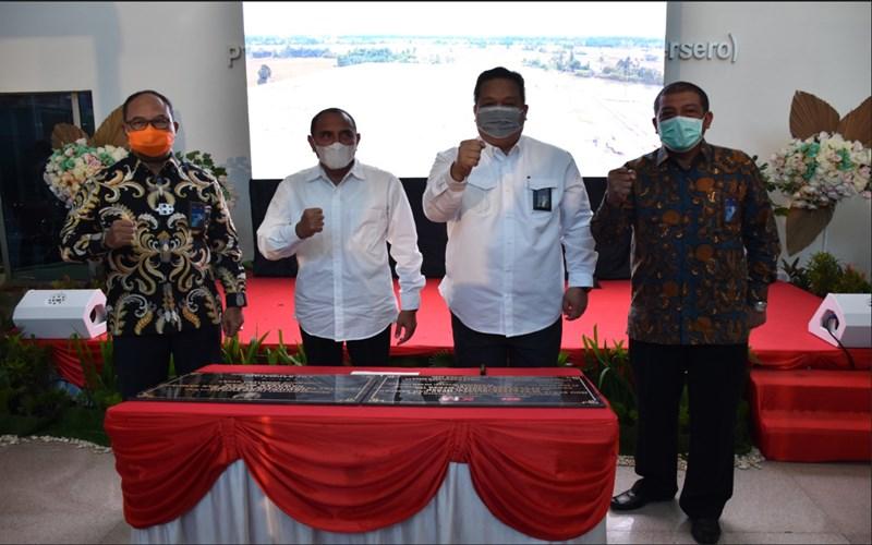 PT Kawasan Industri Medan (Persero) bersinergi dengan PT Adhi Karya (Persero)