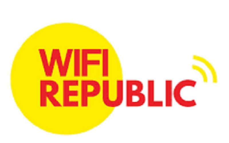 Logo Wifi Republic, penyedia solusi Wi-Fi seluler di Indonesia yang berbasis di Jakarta. - Facebook/Wifi Republic