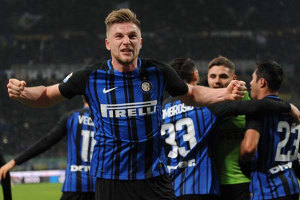 Pemain Inter Milan, Milan Skriniar. - Reuters/Massimo Pinca