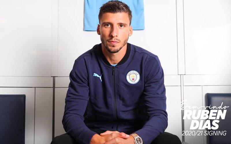 Ruben Dias resmi bergabung dengan Manchester City. - ManCity.com