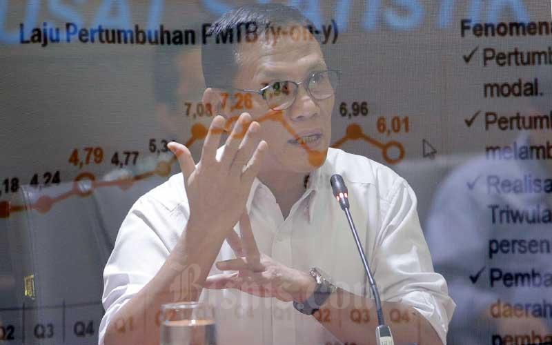 Kepala Badan Pusat Statistik (BPS) Suhariyanto memberikan paparan dalam konferensi pers di Jakarta, Rabu (6/2 - 2019). Bisnis