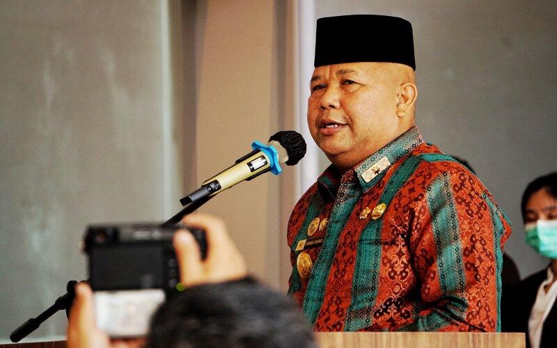 Pjs Wali Kota Batam, Syamsul Bahrum. - Bisnis/Bobi Bani.