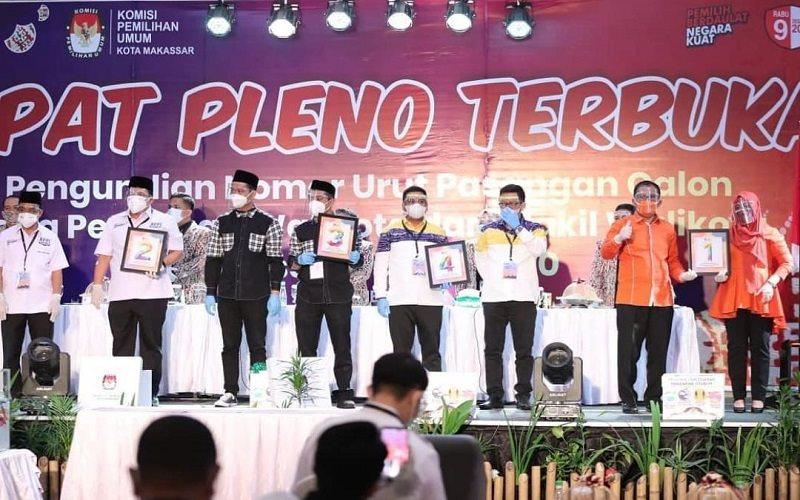 Pengundian nomor urut pasangan calon wali kota dan wakil wali kota Makassar - Instagram