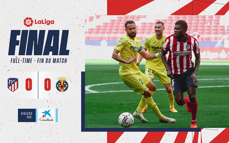 Hasil akhir: Atletico Madrid 0, Villarreal 0. - Twitter@atletienglish