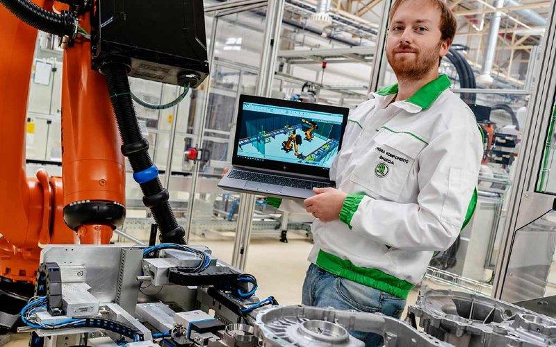 Pabrik Skoda Auto berteknologi Industri 4.0.  - SKODA