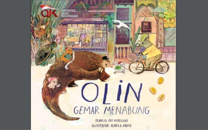Salah satu dari 4 (empat) seri buku cerita bergambar yang diluncurkan OJK untuk meningkatkan literasi keuangan tingkat pendidikan anak usia dini (PAUD).
