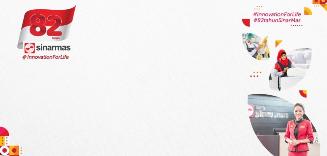 "Banner peringatan ulang tahun Sinar Mas ke-82 yang mengusung tema ""Innovation for Life."" - Dok. Sinar Mas"