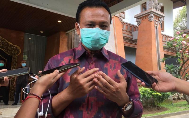 Sekda Provinsi Bali yang juga Ketua Harian Satuan Tugas Penanganan Covid-19 Provinsi Bali, Dewa Made Indra. - Bisnis/Ni Putu Sri Widyastini Susila