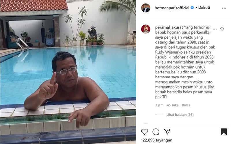 Postingan terbaru akun instagram hotmanparisofficial