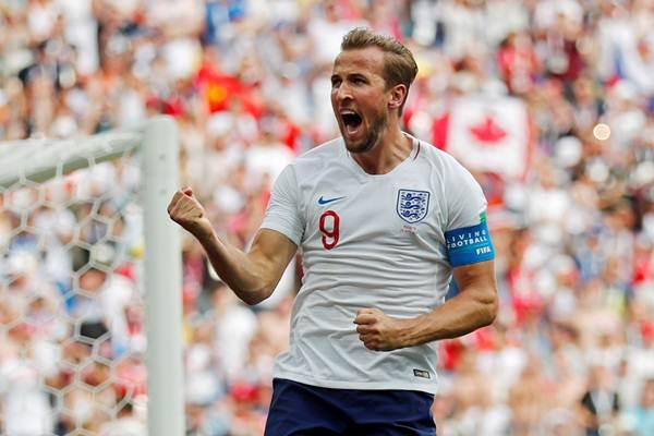 Striker sekaligus kapten Timnas Inggris Harry Kane. - Reuters